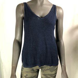 Loft Sleeveless knit navy top size XS